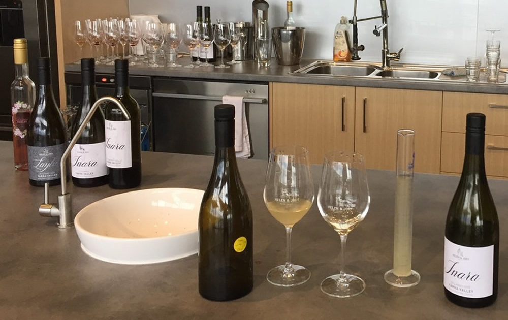 Blending Inara Wines at Helen and Joey Estate