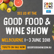 Good Food and wine show Melbourne 1-3 June 2018 flyer